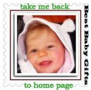 smiling baby, text'back to home page'