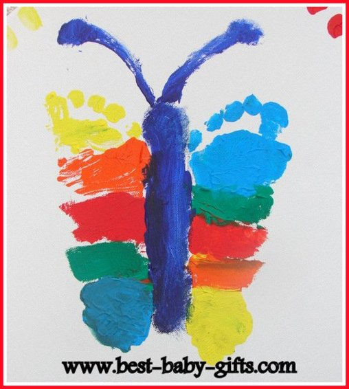 baby footprints art