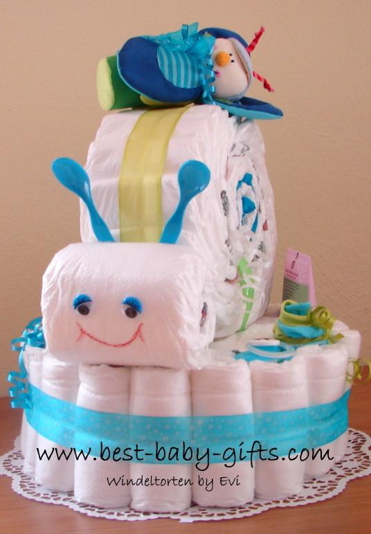 diaper cake for boy instructions