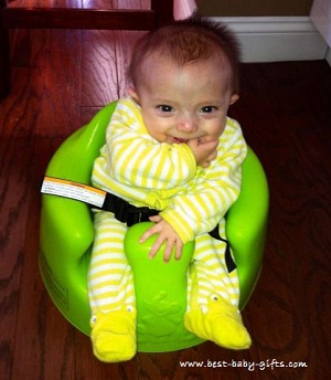 Bumbo Seat review ... helps baby sit up and participate in ...
