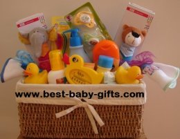 Unique Baby Gift Ideas To Make : Twin baby gift baskets make your own for that cute