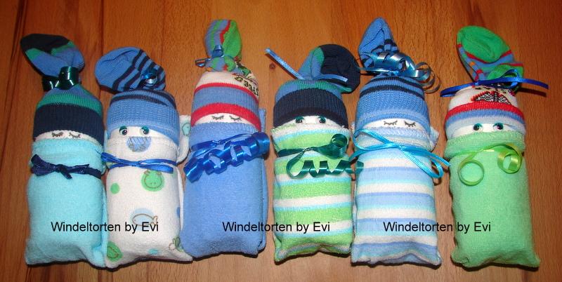 Windelbabys basteln: Anleitung zum Basteln von süssen Windelpüppchen