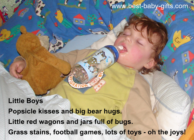 passed out toddler boy laying in bed, sleeping, his cuddly toy side by side and a drinking bottle still in his mouth