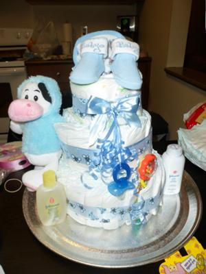 Cute Baby Boy Diaper Cake