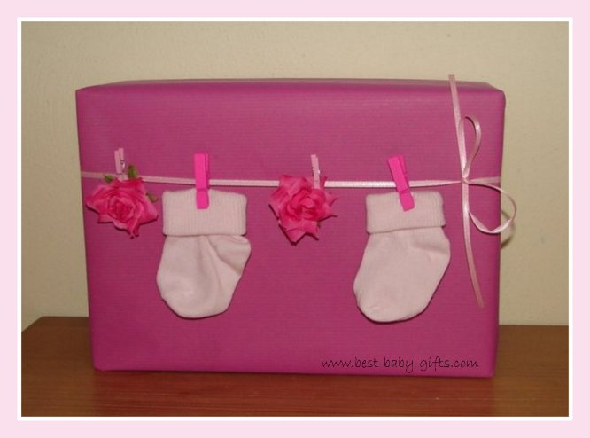 Unique Baby Shower Gift Wrap Ideas