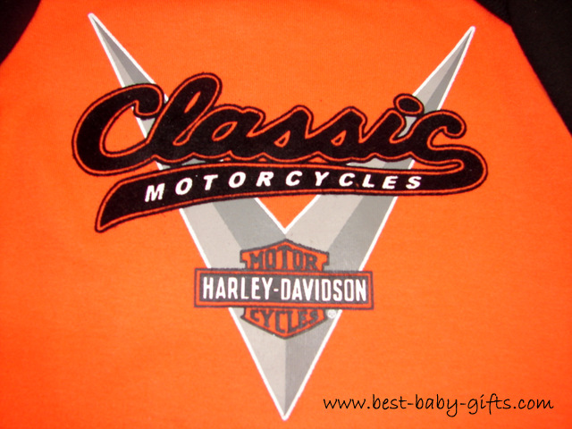 Harley Davidson logo in black and orange