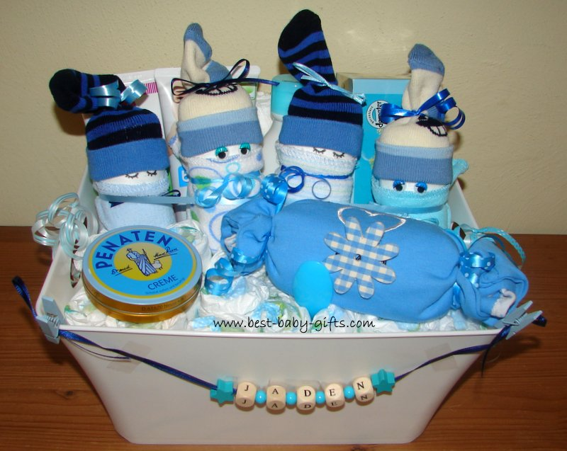 Personalized Boy Baby Gift Basket