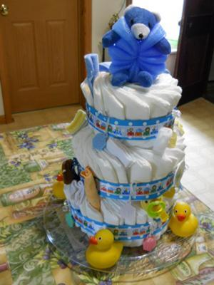 baby bath diaper cake