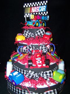 Race Car Diaper Cake