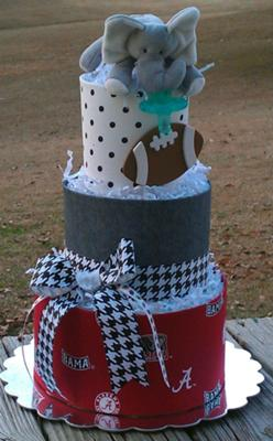 Alabama football diaper cake