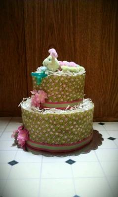Caterpillar Diaper Cake