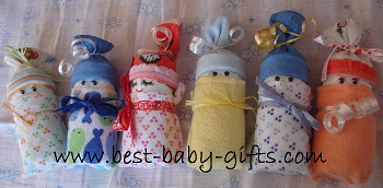 more cute ideas for wrapping a baby shower gift