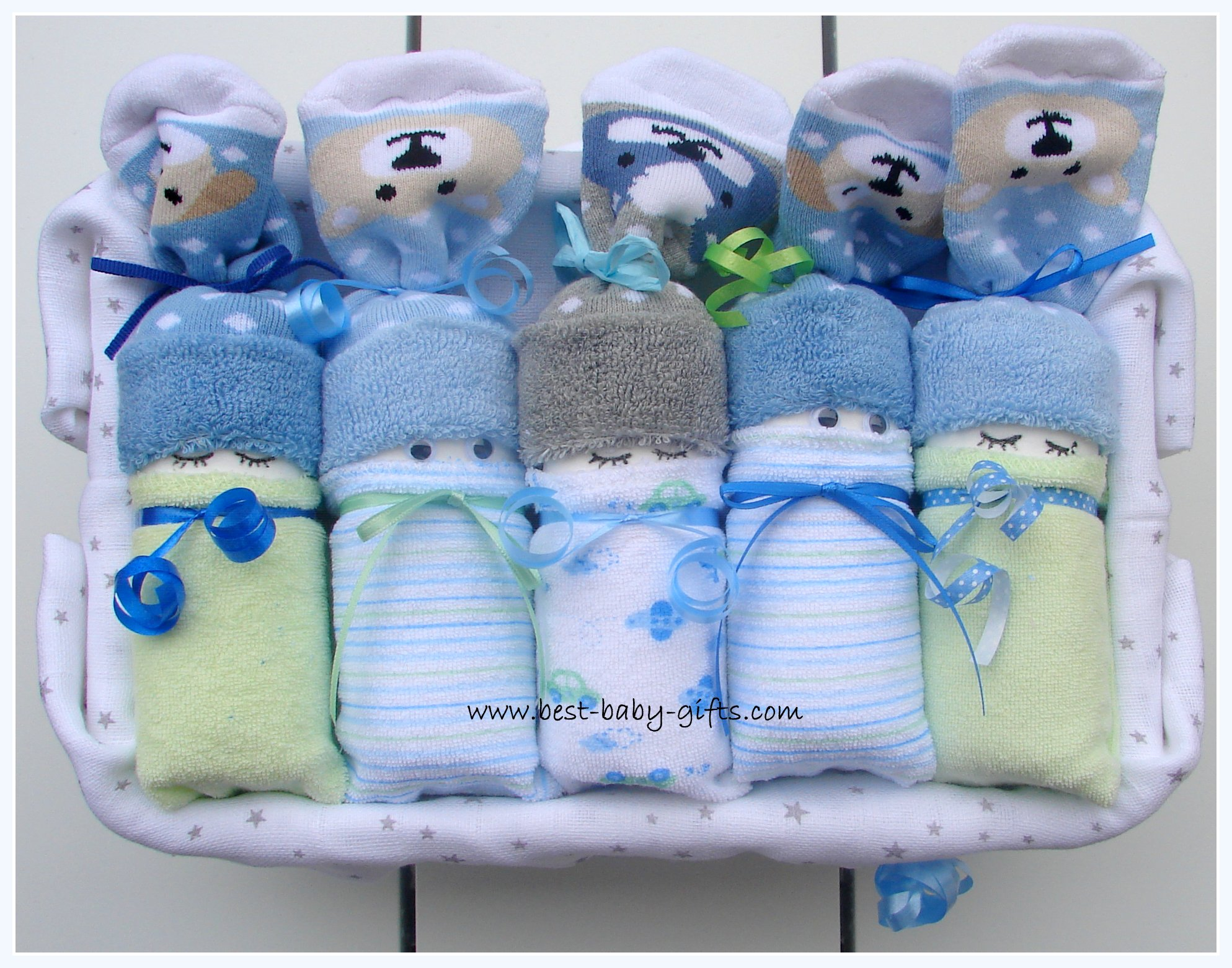 Lot of 4 Diaper Babies Twin Girls Baby Shower Decoration Gift
