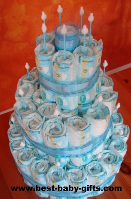 Making a diaper cake instructions