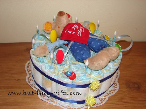 How To Make A Diaper Cake Basket Step By Step