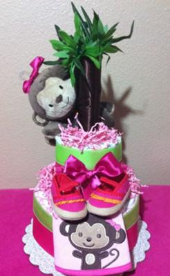 Monkey Diaper Cake