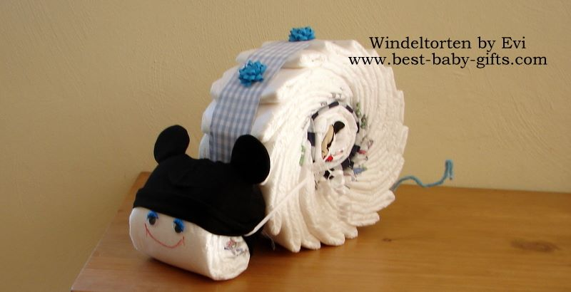 Unique Boy Diaper Cakes: boy diaper gift instructions and ...