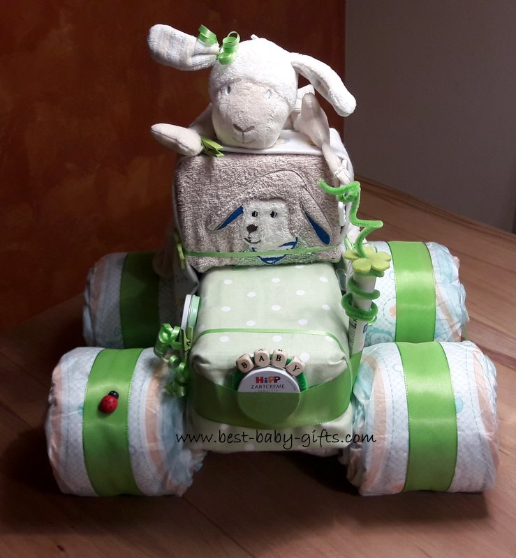 Tractor Diaper Cakes : John deere baby toys clothing gifts for little tractor