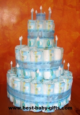 Diaper Cake Directions Make A Plain Easy Diaper Cake