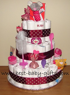 girl diaper cake Minnie Mouse  Year Old Birthday Cakes