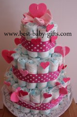 Girl Diaper Cakes Beautiful Pampers Cakes For Newborn