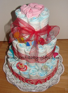Baby Girl Diaper Cake Ideas