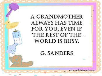 Gifts from baby: a cute quote especially for grandma