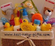 Newborn Baby Gift Baskets... how to make a unique baby gift