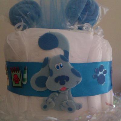 Blues Clues Diaper Cake