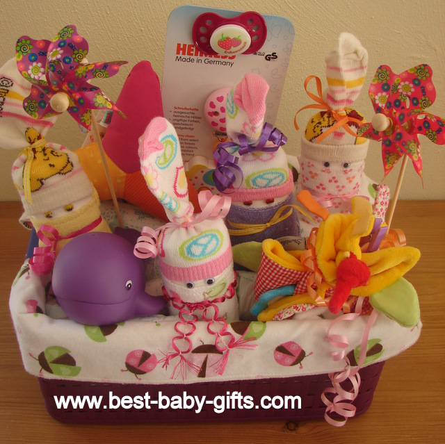 Newborn baby gift baskets how to make a unique baby gift baby gift basket with diaper babies negle Images