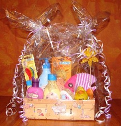 Newborn baby gift baskets how to make a unique baby gift small baby gift basket solutioingenieria Gallery