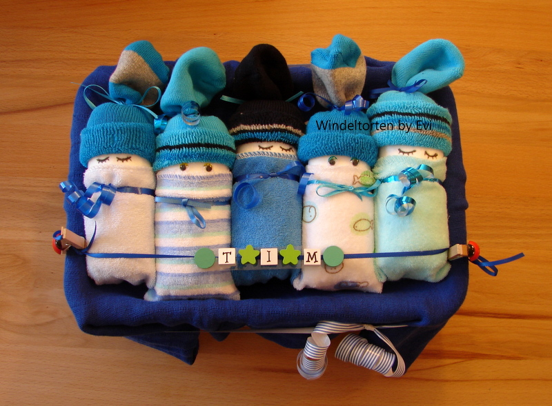 Cute Baby Boy Diaper Cakes