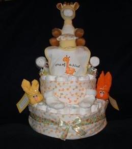 Unisex 4-tier Giraffe Diaper Cake