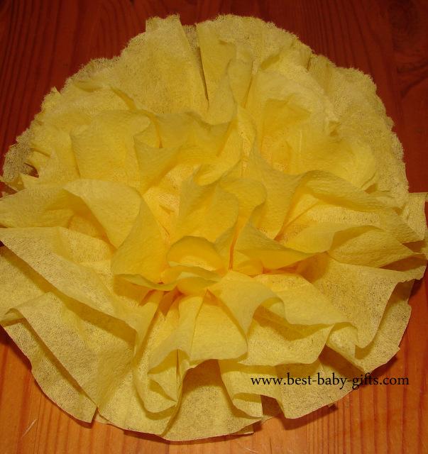 How to make paper flowers ta da my diy napkin flower mightylinksfo