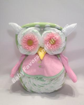 cute owl diaper cake