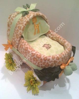 Safari Baby Carriage Diaper Cake
