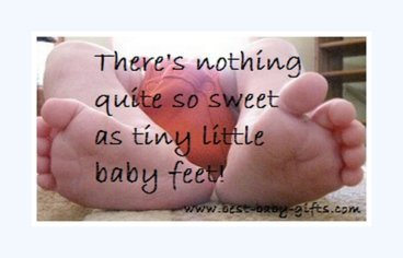 photo of baby feet and baby poem
