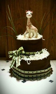Sophie Teething Toy Diaper Cake