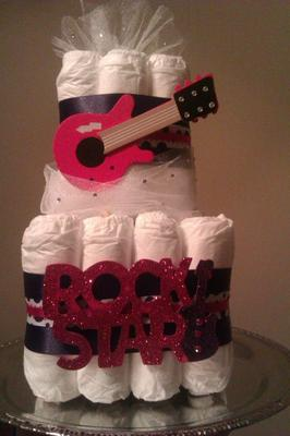 Rock Star Diaper Cake