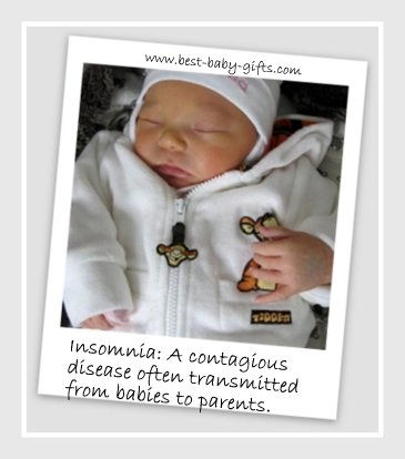 sleeping baby and funny baby quote about insomnia