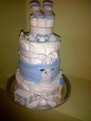 large Pamper-Me Please diaper cake