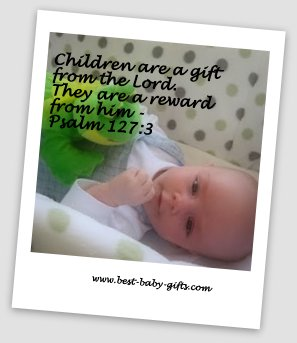 cute baby boy and baby psalm 127:3