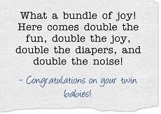 sample card for twin babies